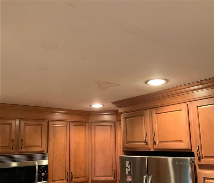 Kitchen ceiling with small water stains