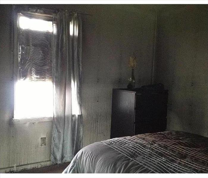 Fire Damaged Bedroom in Cresskill Before